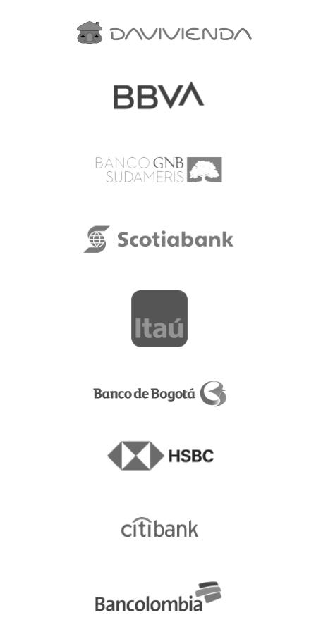 Nuestros clientes Sector financiero versión mobile